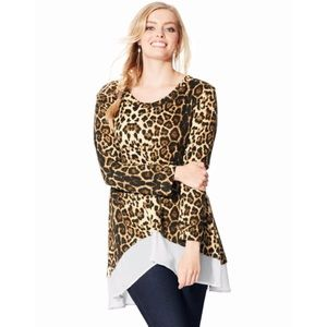 NEW Spoiled Rotten USA 2X Leopard Print Top